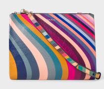 'Swirl' Print Calf Leather Cross-Body Bag