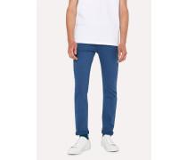 Slim-Fit Blue Garment-Dye Jeans