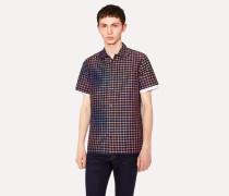 Classic-Fit Navy Rainbow Check Cotton-Blend Shirt