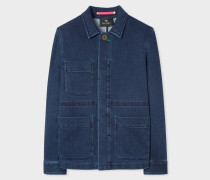 Indigo Denim Utility Jacket