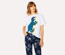 Large 'Dino' Print Cotton T-Shirt