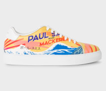 Leather 'Mackerel' Print 'Basso' Trainers