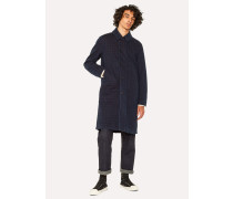 Indigo-Dyed Check Red Ear Shop Coat