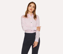 Slim-Fit Light Pink Cotton Shirt With 'Swirl' Print Cuff Lining