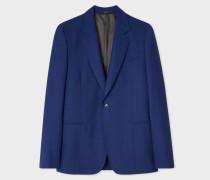 Tailored-Fit Blue Wool Blazer