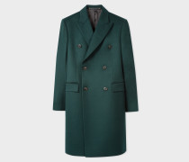 Dark Green Double-Breasted Wool And Cashmere Overcoat