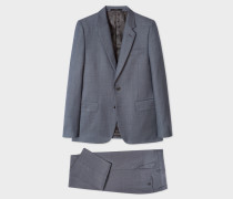 The Soho - Tailored-Fit Dark Grey Three-Piece Suit