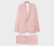 The Soho - Tailored-Fit Light Pink Stretch-Cotton Twill Suit
