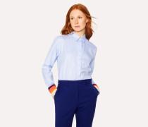 Blue Cotton Shirt With 'Artist Stripe' Cuffs