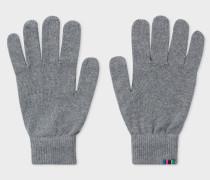 Grey Lambswool Gloves