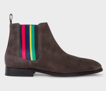 Dark Grey Suede 'Gerald' Chelsea Boots