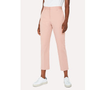 Slim-Fit Pink Stretch-Cotton Trousers