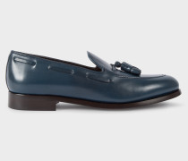 Navy Leather 'Simmons' Tasseled Loafers