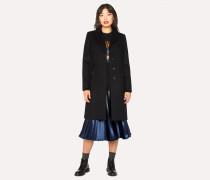 Black Wool And Cashmere-Blend Epsom Coat