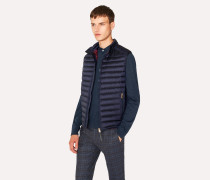 Navy Quilted Down Gilet