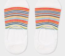 Écru Multi-Colour Striped Loafer Socks