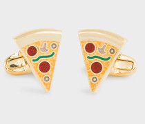 Pizza Slice Gold Cufflinks