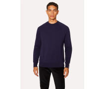 Navy Cotton Raglan Sweatshirt