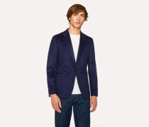 Tailored-Fit Navy Cashmere Blazer