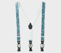 Blue Paisley Motif Braces