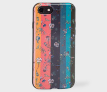 'Artist Stripe' Floral Motif Lenticular iPhone 7 Case