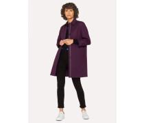 Purple Cotton Unlined Mac