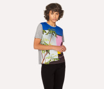 Grey 'LA Wall' Print T-Shirt