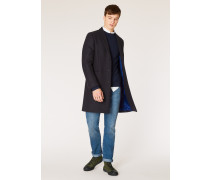 Dark Navy Wool And Cashmere-Blend Overcoat