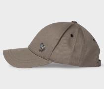 Grey Cotton Zebra Logo Baseball Cap