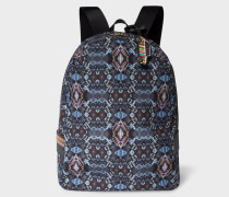 'Mini Kaleidoscope' Print Canvas Backpack