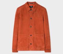 Burnt Orange Suede Work Jacket