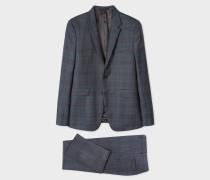 The Kensington - Slim-Fit Slate Grey Check Wool Suit