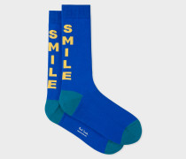 Indigo 'Smile' Socks