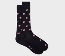 Navy 'Dreamer Frog' Jacquard Socks