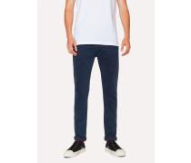 Slim-Fit 'Reflex Super Stretch' Navy Over-Dye Jeans