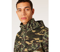 'Fox Camouflage' Print Cotton Field Jacket