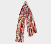 Leopard 'Swirl' Devoré Silk-Blend Scarf