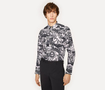 Slim-Fit Off-White 'Large Sun' Print Cotton Shirt