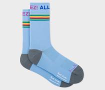 Light Blue 'Allez!' Cycling Socks
