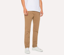 Slim-Fit Sand Stretch Pima-Cotton Chinos