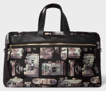 Camouflage 'Paul's Camera' Print Canvas Weekend Bag