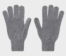 Grey Cashmere-Blend Gloves