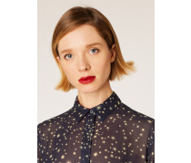 Navy 'Gold Star' Print Chiffon Shirt