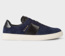 Dark Navy Suede 'Levon' Trainers