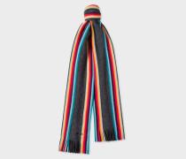 Charcoal Grey 'Artist Stripe' Band Merino Wool Scarf