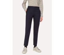 A Suit To Travel In -  Classic-Fit Dark Navy Wool Trousers