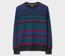 Navy Stripe Cotton Sweatshirt