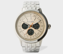 Taupe And Stainless Steel 'Precision' Watch