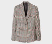 Slim-Fit Prince Of Wales Check Wool Blazer