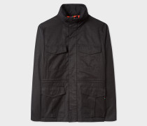 Black Cotton-Blend Field Jacket
